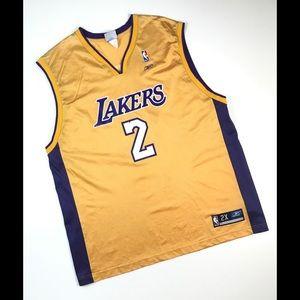 Vintage La Lakers jersey xxl 2XL DEREK FISHER gold
